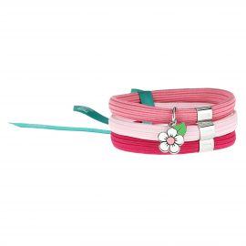 """Bracciale elastico colorato Impulse """"Savana story"""" con fiore di pesco"""