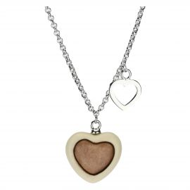 Current necklace with heart