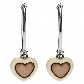 Current earrings with heart