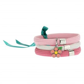 Mamma Simply You coloured elastic bracelet with daisy