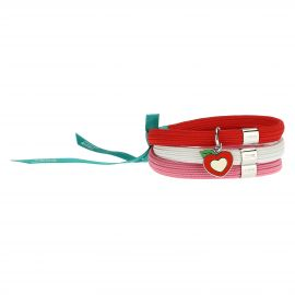 Mamma Simply You coloured elastic bracelet with heart