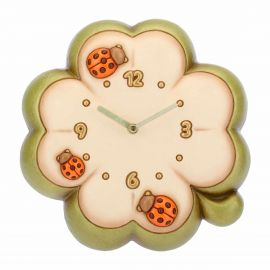 Country lucky four-leaf clover-shaped wall clock