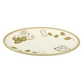"""Centrotavola ovale in ceramica """"Coniglio magico"""""""