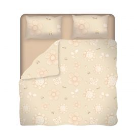 Elegance double duvet cover with 2 pillowcases and fitted bottom sheet