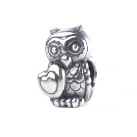THUN by TROLLBEADS® Owl in Love Bead - Good fortune is in your heart