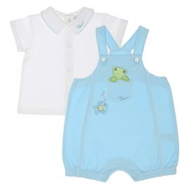 """Unisex white set with long sleeves 0-3 months THUN & OVS in bio cotton """"Dolci amici"""""""