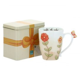 Mug with tin box Country