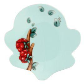 """Green dessert Plate """"Preludio d'inverno"""""""