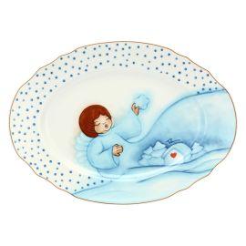 """Big oval plate """"Chiaro di luna"""""""