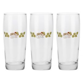 Set 3 golden beer glasses