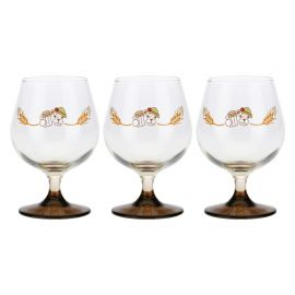 Set 3 dark beer glasses