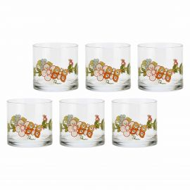 Set 6 liquor glasses Country