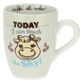 Giraffe mug - Today I can touch the sky