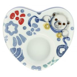 Dolce Inverno porcelain heart-shaped candle holder