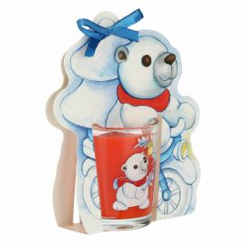 Dolce Inverno candle with Paul the Polar Bear - cinnamon