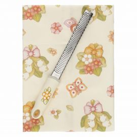 Grater set with Country flowers tea towel