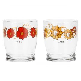 "Set of 2 ""Savana story"" glasses"