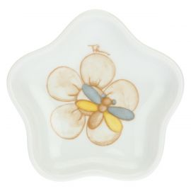 Elegance porcelain flower-shaped tea/infusion bag rest