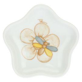 Teebeutelablage aus Porzellan Elegance in Blumenform
