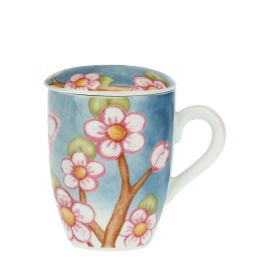 Fiori Di Pesco porcelain herbal tea mug