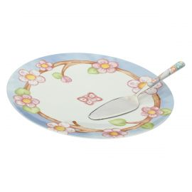 Fiori Di Pesco multipurpose plate with cake slice