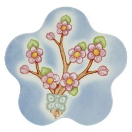 Fiori Di Pesco porcelain flower-shaped trivet
