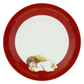Small Dolce Natale plate with angel