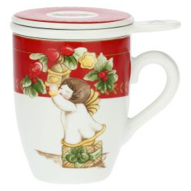 Dolce Natale porcelain herbal tea mug