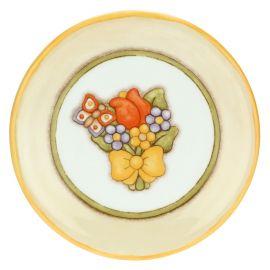 Dessertteller Country mit Blumenstrauß