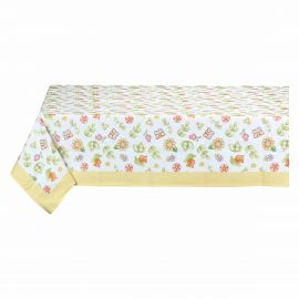 12-Place Country tablecloth with yellow border
