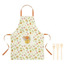 Set of Country apron with 3 utensils