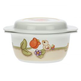 Country porcelain saucepan with lid