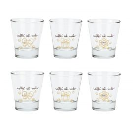 Set of 6 Gold Icons small glasses