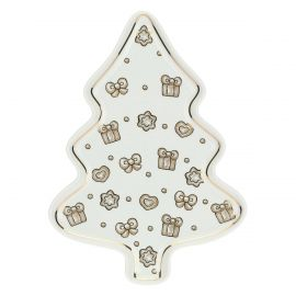 Gold Icons tree-shaped multipurpose plate