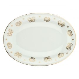 Gold Icons oval multipurpose plate
