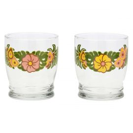 Set of 2 We Are Jungle glasses