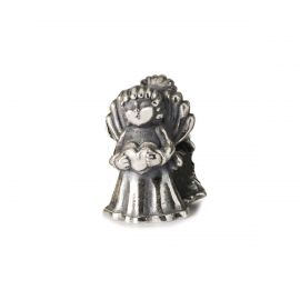 THUN by TROLLBEADS® Big Love Angel silver bead - Carry me in your heart