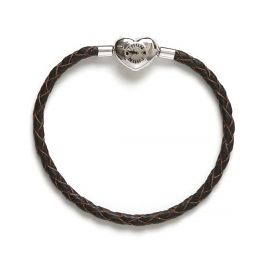 Leather My Charms bracelet, brown