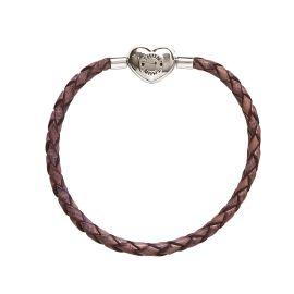 Leather My Charms bracelet, violet