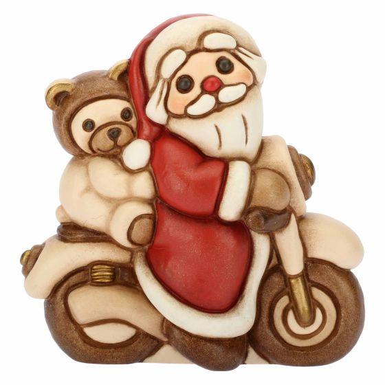 Natale Thun.Santa Claus On Motorcycle Thun