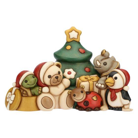 Albero Di Natale Con Foto Amici.Gli Amici Del Natale Maxi Con Tartaruga Teddy Coccinella Elefante E Pinguino Thun