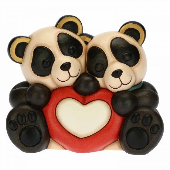 THUN Sammlerfiguren 'Panda Bandoo Liebespaar mit Herz' 2021