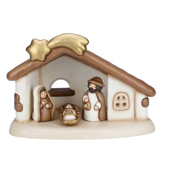 Set capanna e Sacra Famiglia del presepe variante bianca | Thun