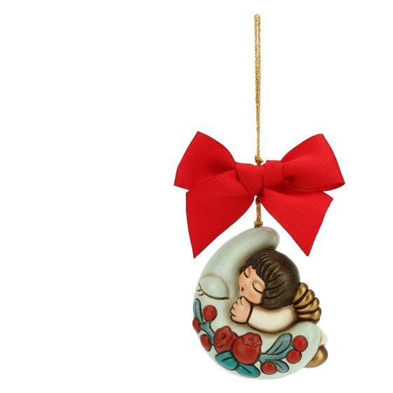 Addobbi Natalizi Thun.Addobbo Per Albero Di Natale Angelo Con Luna Grande Thun